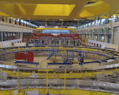 ITER by drone November 2020: poloidal field coils