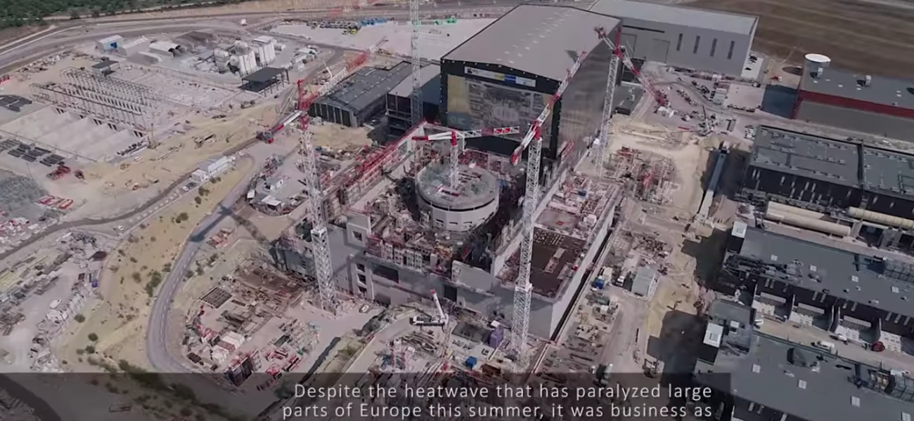 ITER drone film shot in August 2018