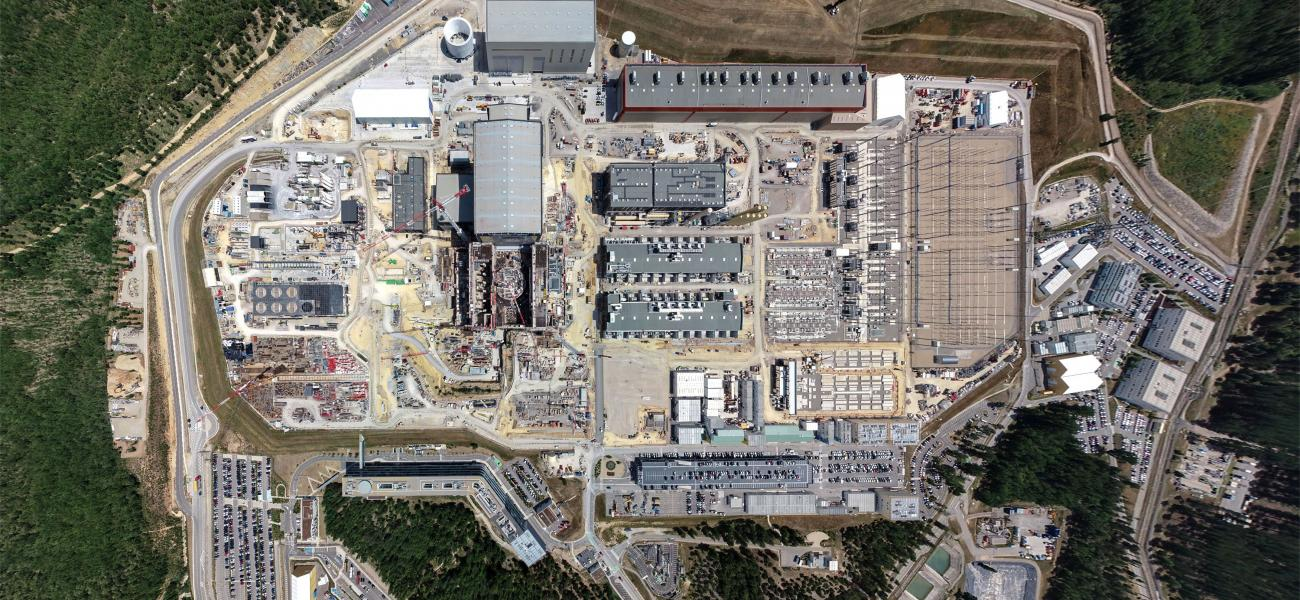 ITER site aerial view July 2019