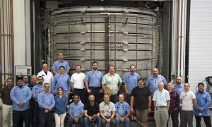 First central solenoid module enters heat treatment at General Atomics